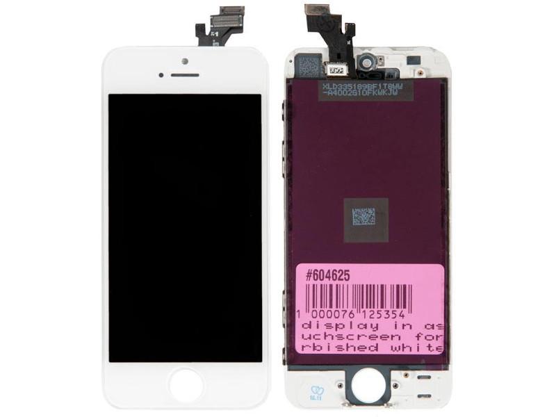 Дисплей RocknParts для APPLE iPhone 5 White 604625 дисплей longteng для iphone 5 white 429742
