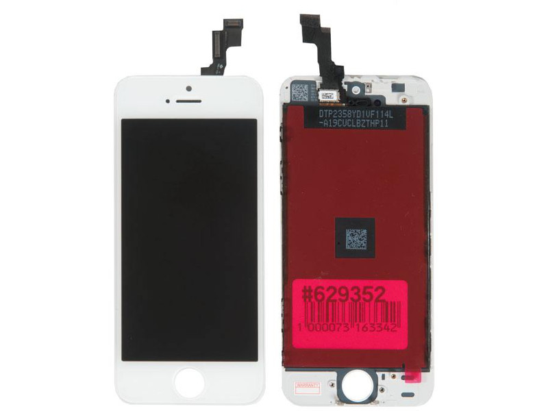 Дисплей RocknParts для APPLE iPhone 5S White 629352 дисплей rocknparts для apple iphone 7 white 632935