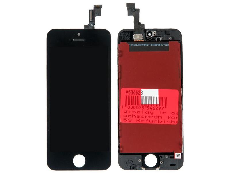 Дисплей RocknParts для APPLE iPhone 5S Black 604628