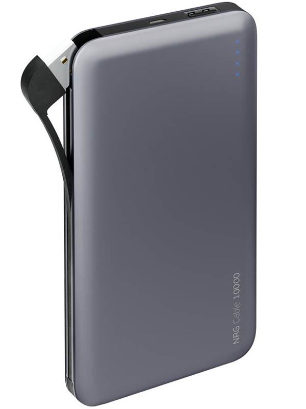 Аккумулятор Deppa NRG Cable 10000 mAh Graphite DEP-33536 чехол аккумулятор deppa nrg case 2600 mah для iphone 7 белый 33520