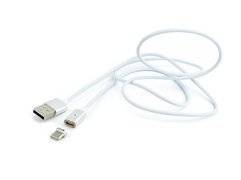 Аксессуар Gembird Cablexpert Magnetic USB 2.0 AM/Type-C 1m CC-USB2-AMUCMM-1M tronsmart usb2 0 usb c male to usb a sync