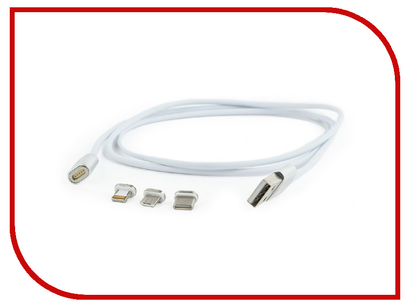 Аксессуар Gembird Cablexpert Magnetic USB 2.0 AM/Type-C + microBM 5P + Lightning 8pin CC-USB2-AMLM31-1M аксессуар gembird cablexpert usb 3 0 microbm usb 3 1 type c 1m ccp usb3 mbmcm 1m