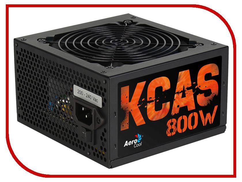 Блок питания AeroCool KCAS PLUS 800W блок питания aerocool retail strike x 800 80 plus silver 800w red