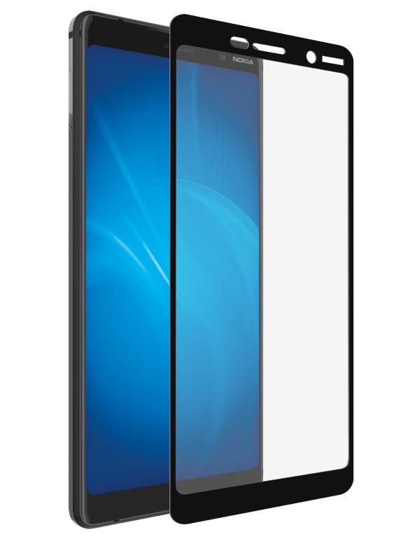 Аксессуар Защитное стекло Optmobilion для Nokia 7 Plus 2.5D Black аксессуар защитное стекло для honor 8 optmobilion 2 5d white