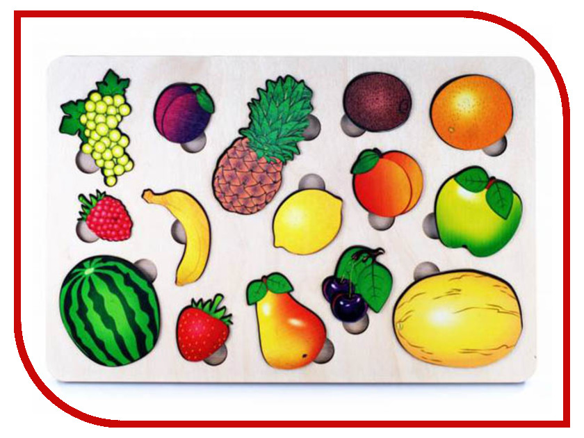 Сортер Нескучные игры Развивающая доска Фрукты 7988/36 анданте развивающая доска больше меньше фрукты