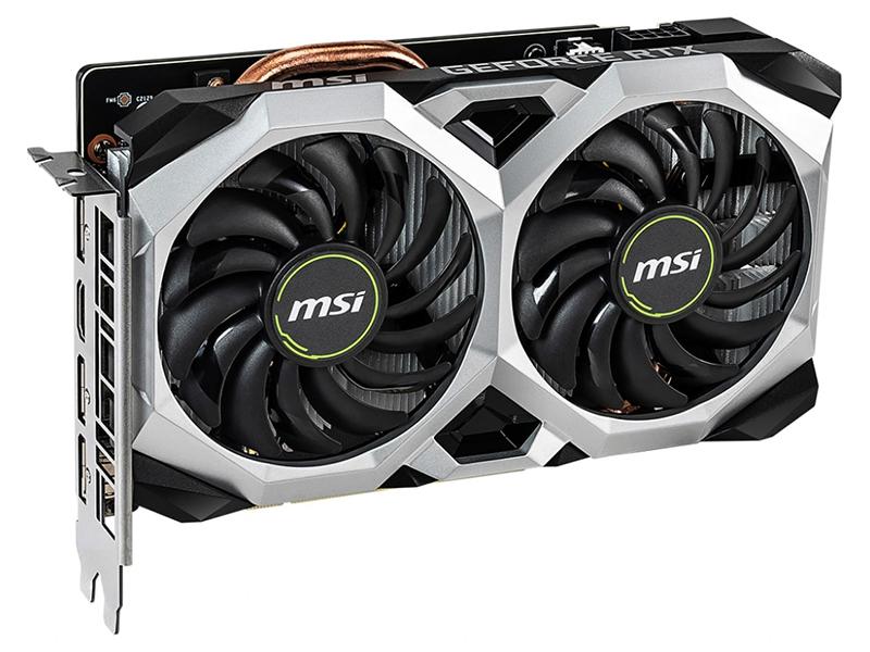 Видеокарта MSI GeForce RTX 2060 1710Mhz PCI-E 3.0 6144Mb 14000Mhz 192 bit HDMI 3xDP VENTUS XS 6G OC
