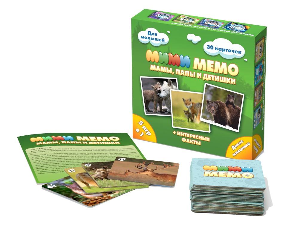 Настольная игра Нескучные игры Ми-Ми-Мемо Дикие животные 8050
