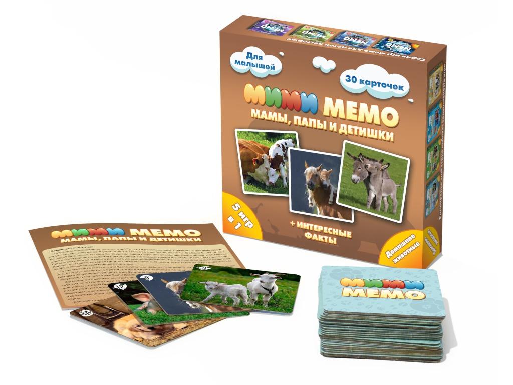 Настольная игра Нескучные игры Ми-Ми-Мемо Домашние животные 8051