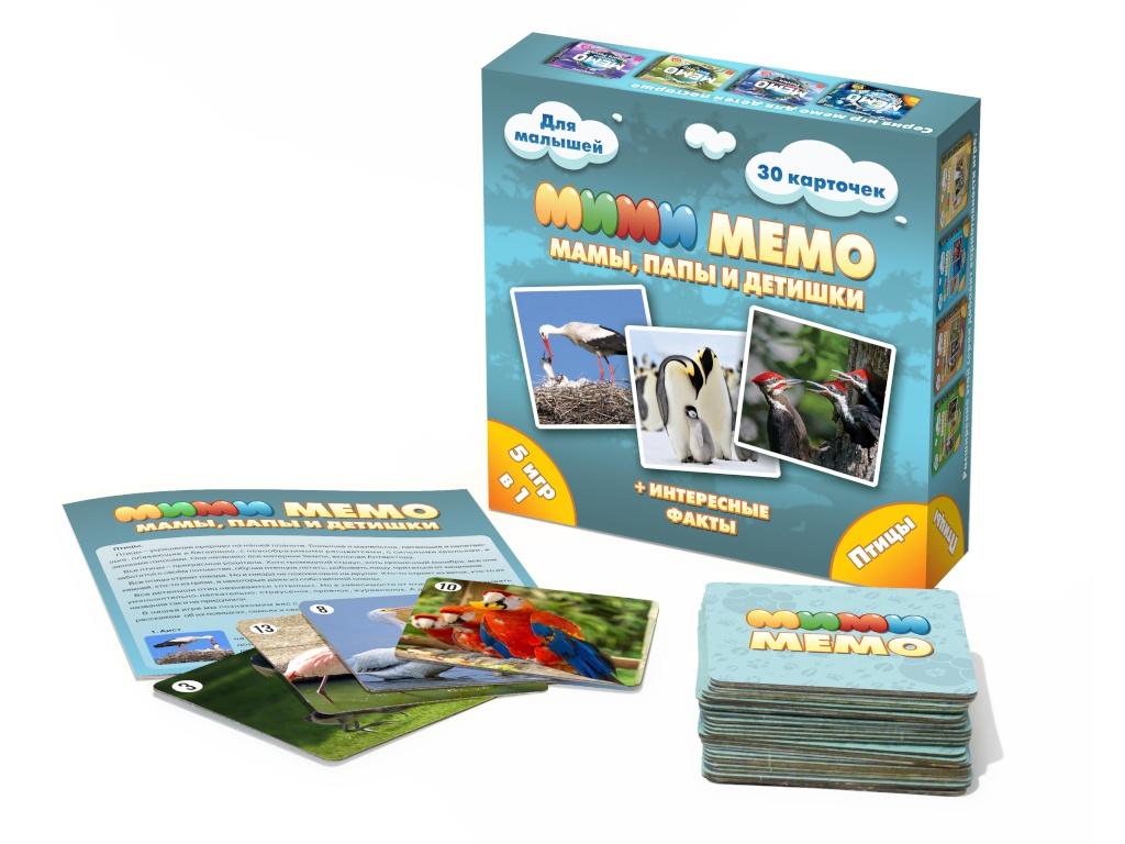Настольная игра Нескучные игры Ми-Ми-Мемо Птицы 8052