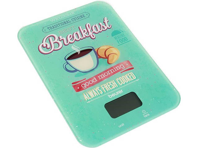Весы Beurer KS 19 Breakfast Light Blue цена