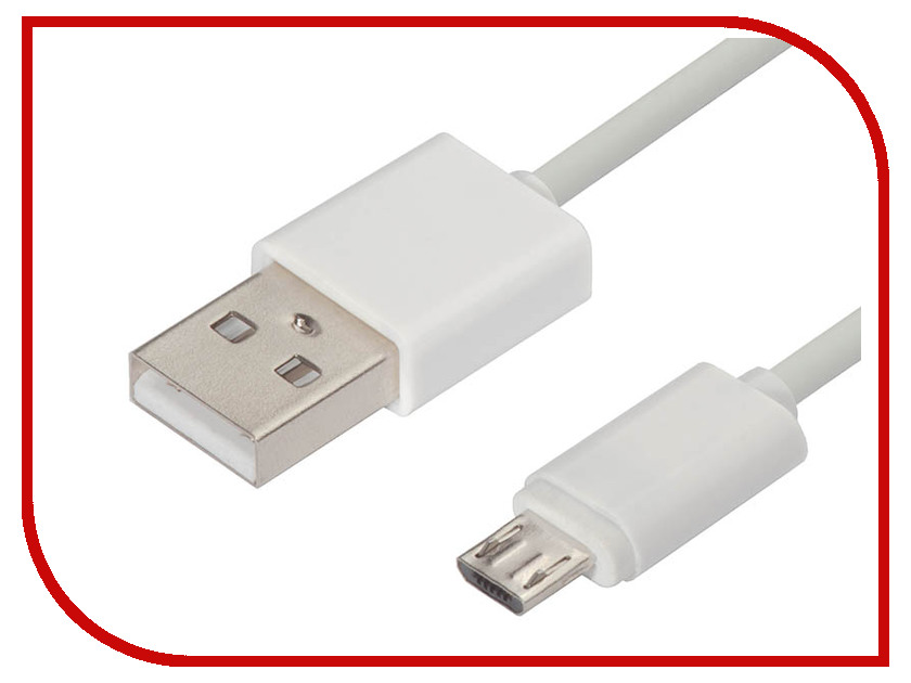 Аксессуар Greenconnect USB 2.0 AM - Micro B 5pin 1m White GCR-50965 аксессуар greenconnect greenline hdmi vga audio micro usb gcr hd2vga3