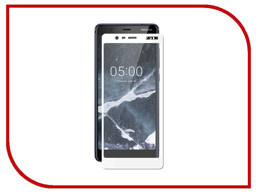 Аксессуар Защитное стекло для Nokia 5.1 Optmobilion 2.5D White аксессуар защитное стекло nokia 3 5 inch gecko 0 26mm zs26 gnok3