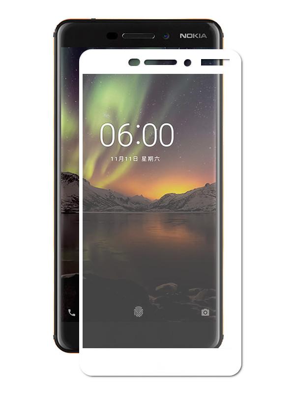 Аксессуар Защитное стекло Optmobilion для Nokia 6.1 2.5D White