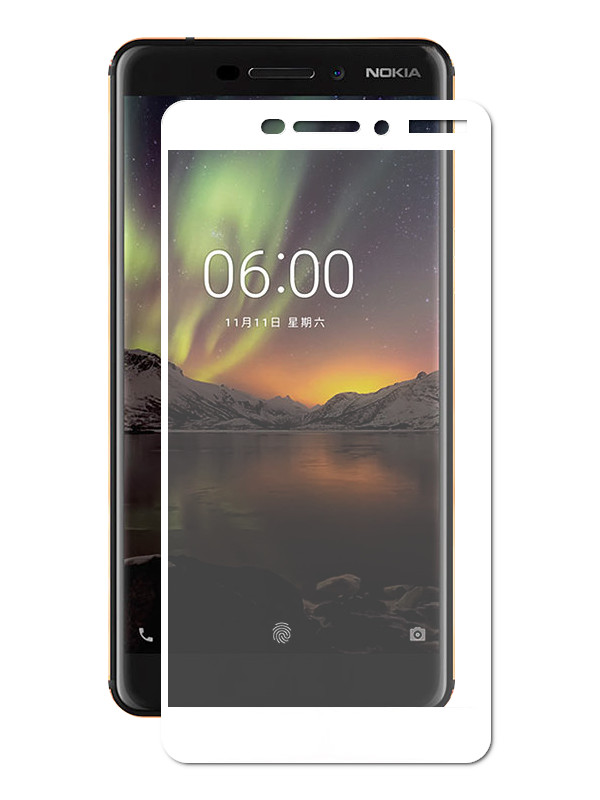 Аксессуар Защитное стекло Optmobilion для Nokia 7 Plus 2.5D White