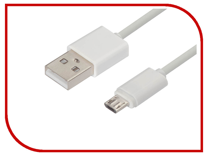 Аксессуар Greenconnect USB 2.0 AM - Micro B 5pin 2m White GCR-51133 аксессуар greenconnect greenline hdmi vga audio micro usb gcr hd2vga3