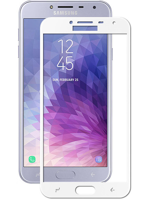 Аксессуар Защитное стекло Optmobilion для Samsung J4 2018 2.5D White