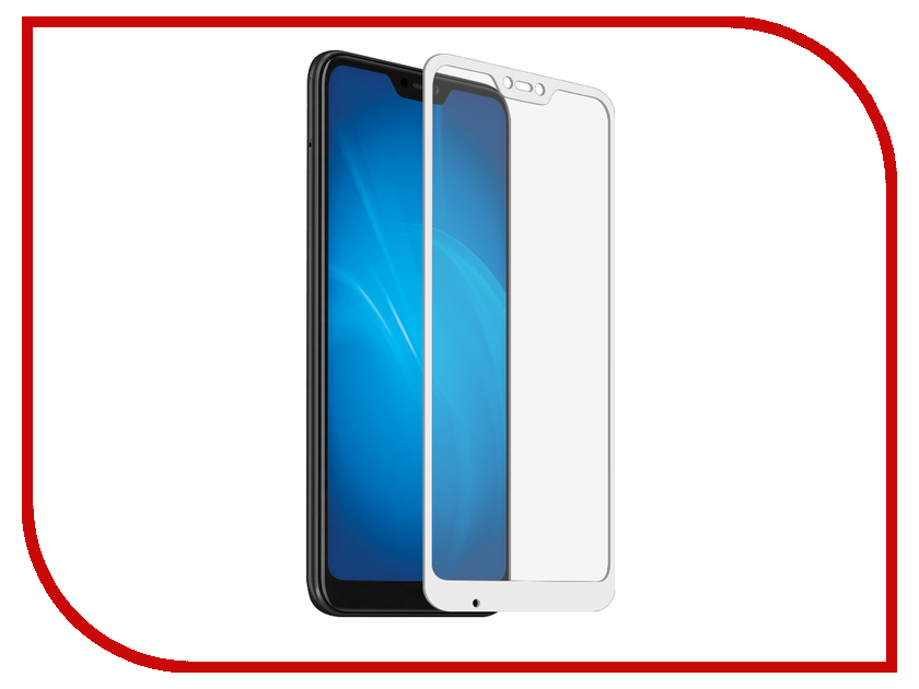 Аксессуар Защитное стекло для Xiaomi Mi A2 Lite Optmobilion 2.5D White аксессуар защитное стекло для xiaomi mi a2 luxcase 2 5d full glue white frame 77888