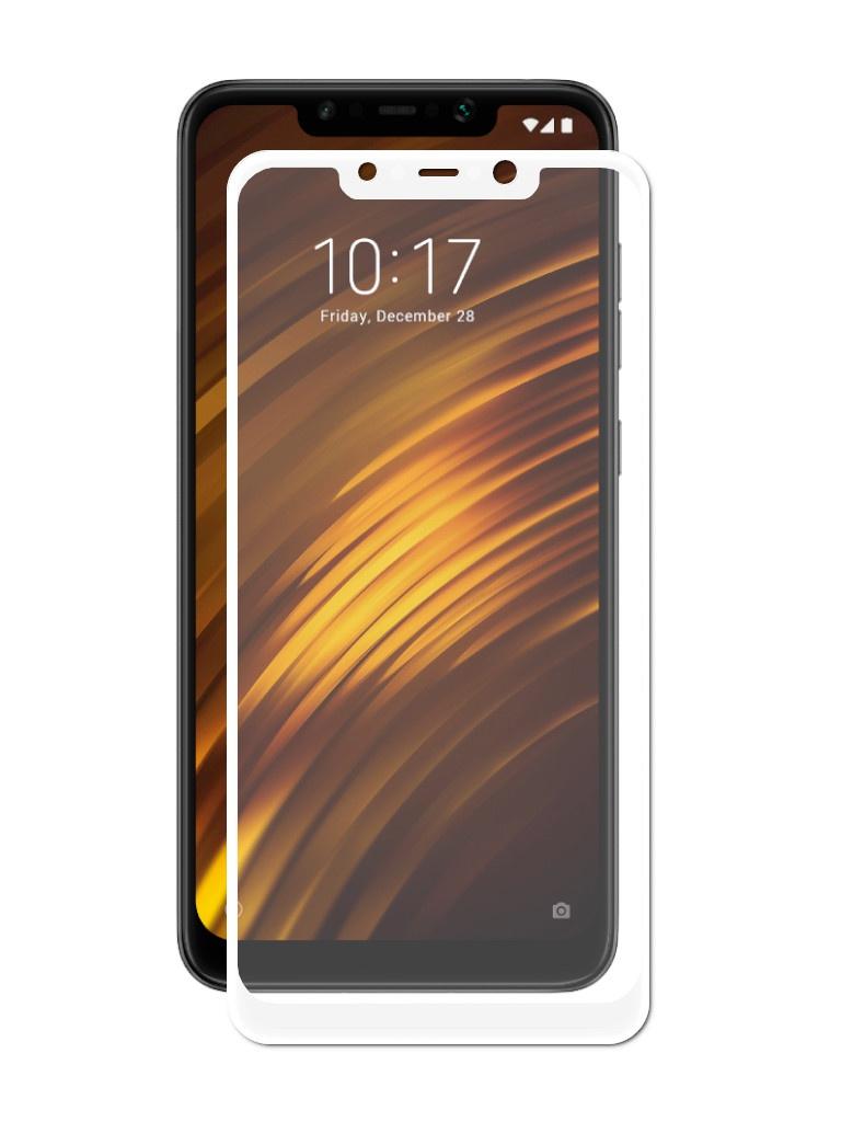 Аксессуар Защитное стекло Optmobilion для Xiaomi Mi Pocophone F1 2.5D White