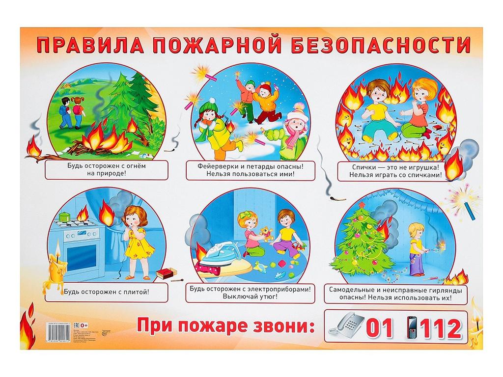 Пособие Плакат Атмосфера праздника Правила пожарной безопасности А2 4158772