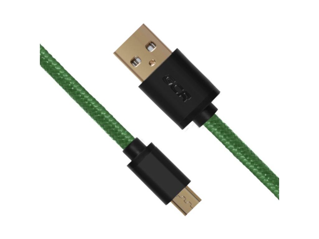 Аксессуар Greenconnect USB 2.0 AM - Micro B 5pin 0.5m Green-Black GCR-UA11MCB6-BB2S-G-0.5m аксессуар greenconnect usb type c usb 2 0 0 5m black gcr uc1am bb2s 0 5m