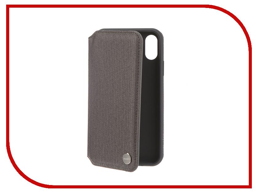 Аксессуар Чехол для APPLE iPhone XR Moshi Overture Herringbone Grey 99MO091051 клип кейс moshi vitros для apple iphone xr серебристый