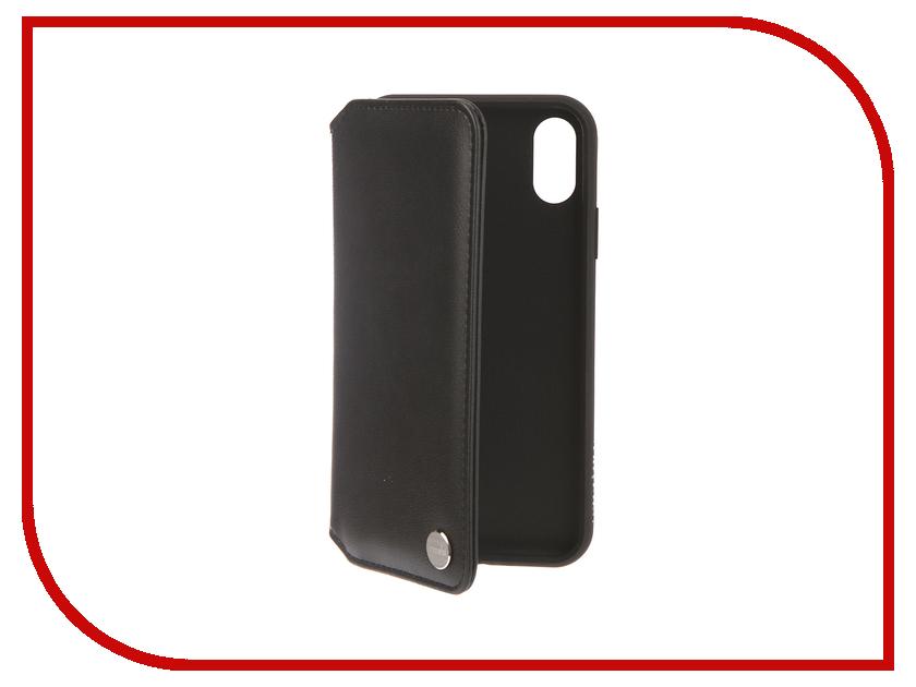 Аксессуар Чехол для APPLE iPhone XR Moshi Overture Charcoal Black 99MO091010 клип кейс moshi vitros для apple iphone xr серебристый