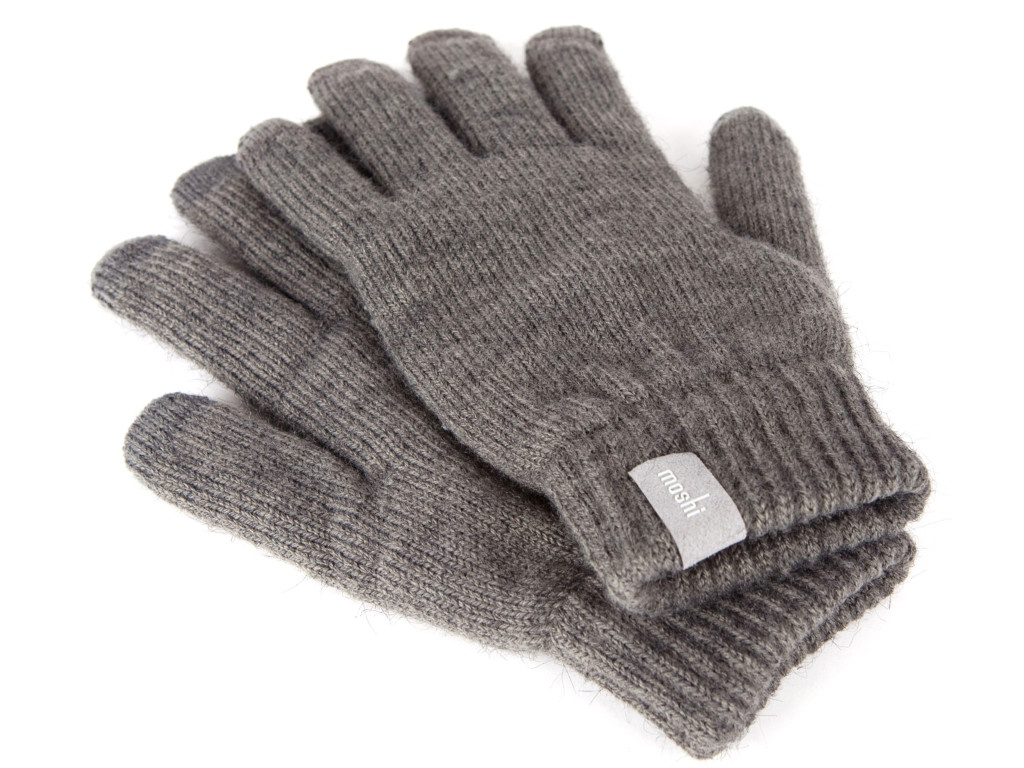 Теплые перчатки для сенсорных дисплеев Moshi Touch Screen Gloves Dark Grey 99MO065031