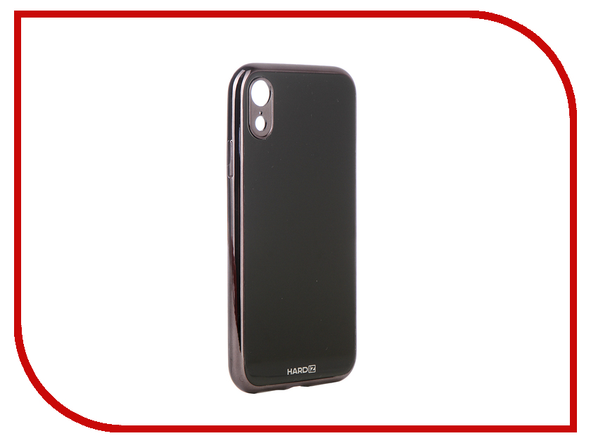 Аксессуар Чехол для APPLE iPhone XR Hardiz Glass Case Black HRD811701 gumai silky case for iphone 6 6s black