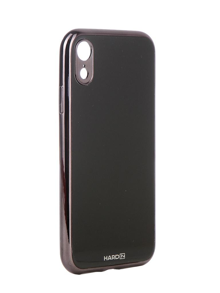 Аксессуар Чехол Hardiz для APPLE iPhone XR Glass Case Black HRD811701 аксессуар чехол для apple iphone xr hardiz glass case white hrd811700