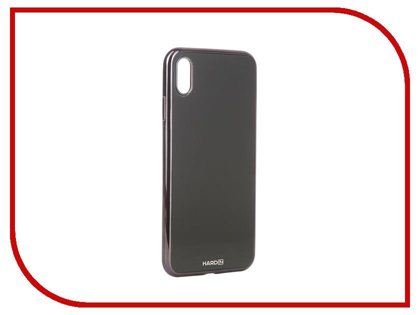 Аксессуар Чехол для APPLE iPhone XS Max Hardiz Glass Case Black HRD812701 gumai silky case for iphone 6 6s black