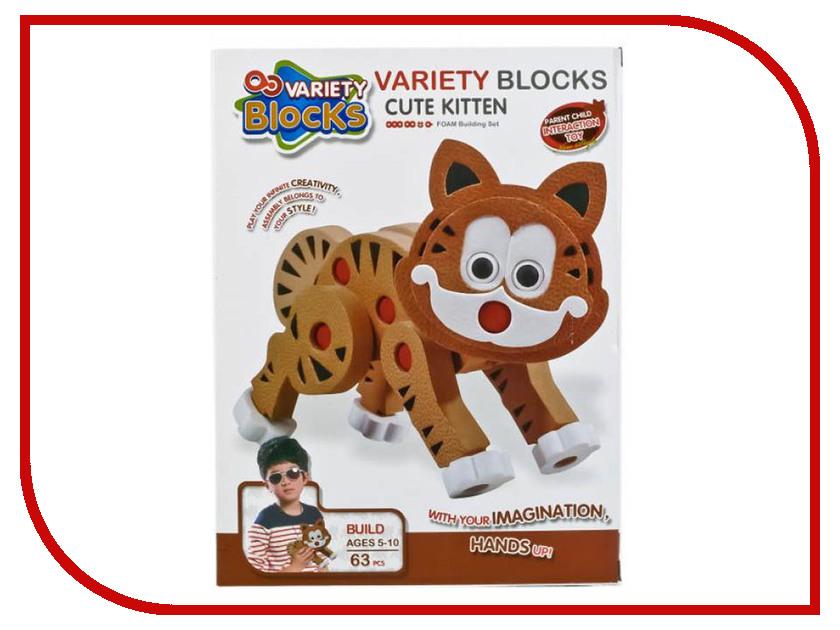 Конструктор Variety Blocks Кошка 63 дет. 3111 конструктор pilsan master blocks  260 дет    03 454