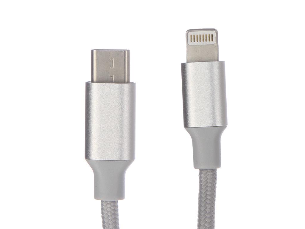 Аксессуар Dorten Metallic Series USB-C to Lightning 1.2m Silver DN400301