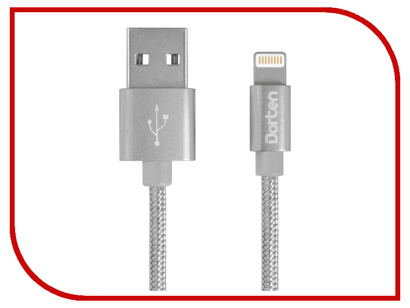 Аксессуар Dorten Mettallic Series Lighting to USB 1.2m Space Grey DN3123007 аксессуар dorten angled series 90 lighting to usb 1 2m silver dn312800