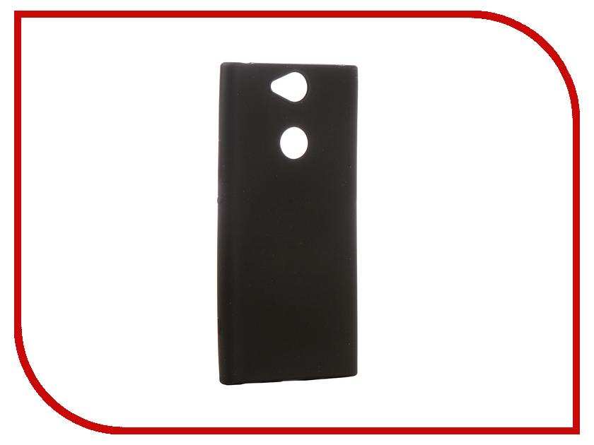 Аксессуар Чехол для Sony Xperia XA2 Plus Brosco Black Matte XA2P-COLOURFUL-BLACK чехол sony оригинальный чехол stand cover чехол подставка для xperia xa2 plus цвет серебристый