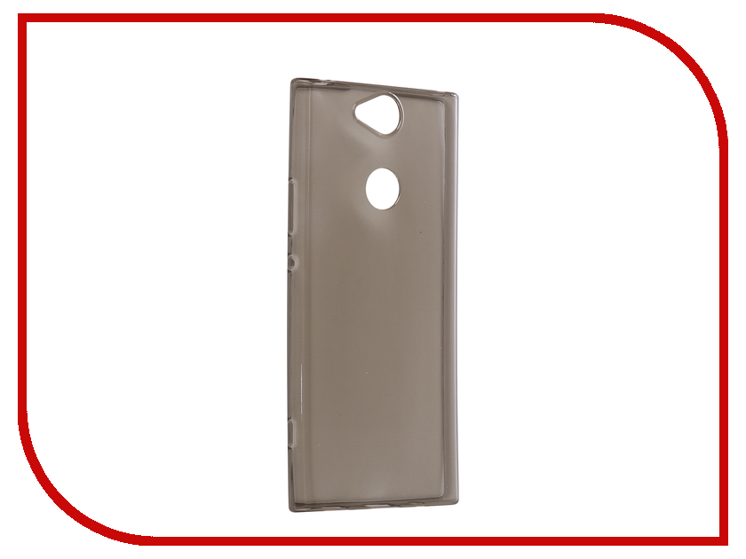 Аксессуар Чехол для Sony Xperia XA2 Plus Brosco Silicone Black XA2P-TPU-BLACK чехол sony оригинальный чехол stand cover чехол подставка для xperia xa2 plus цвет серебристый