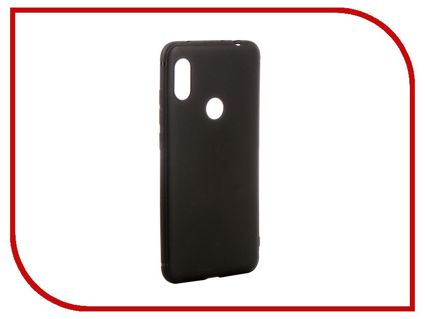 Аксессуар Чехол для Xiaomi Redmi Note 6 Pro Brosco Softtouch Silicone Black XM-RN6P-TPU-ST-BLACK
