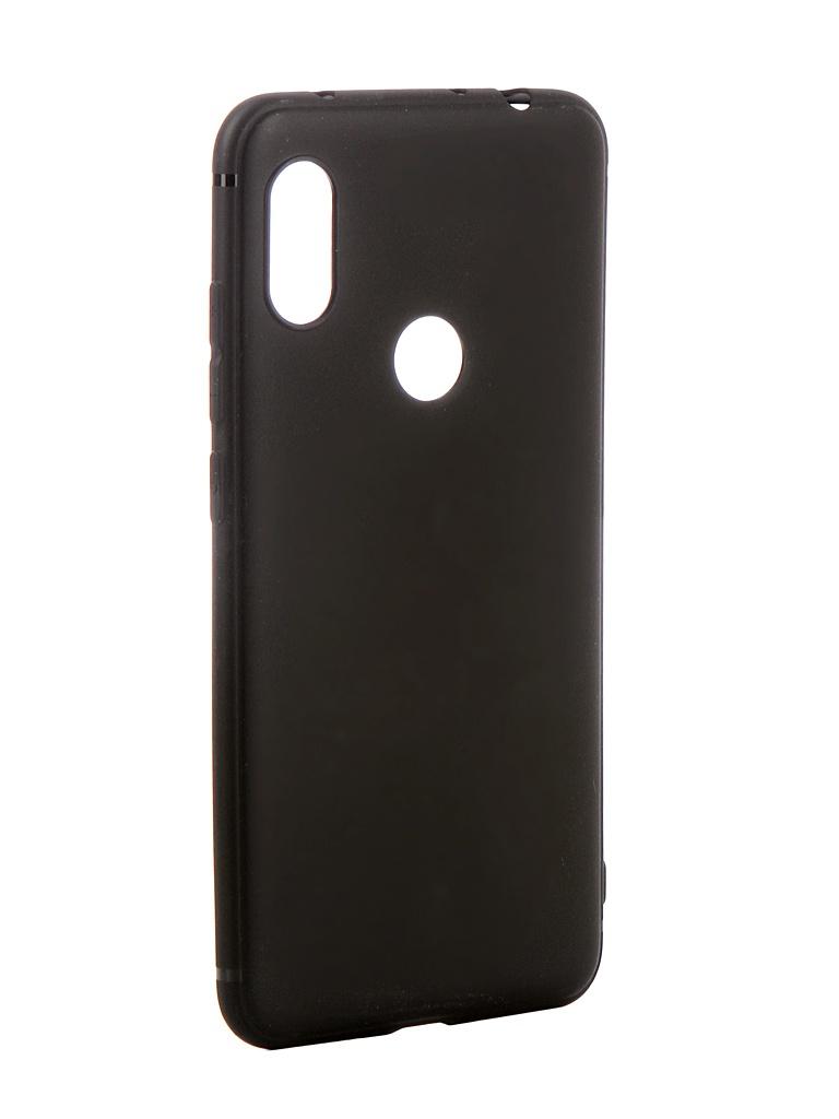 Аксессуар Чехол Brosco для Xiaomi Redmi Note 6 Pro Softtouch Silicone Black XM-RN6P-TPU-ST-BLACK