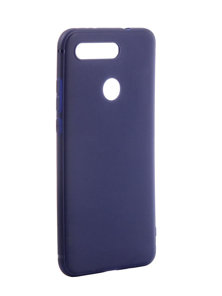 Чехол Brosco для Huawei Honor V20 Softtouch Silicone Blue HW-HV20-TPU-ST-BLUE
