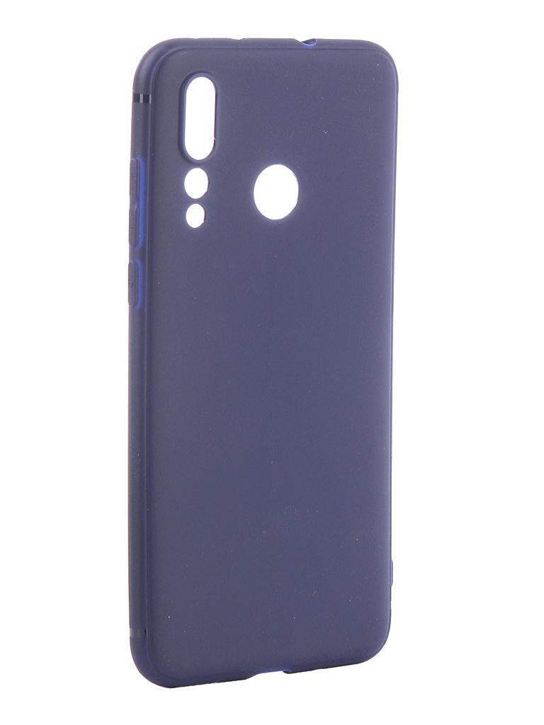 Аксессуар Чехол Brosco для Huawei Nova 4 Softtouch Silicone Blue HW-N4-TPU-ST-BLUE