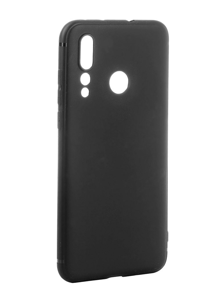 Аксессуар Чехол Brosco для Huawei Nova 4 Softtouch Silicone Black HW-N4-TPU-ST-BLACK