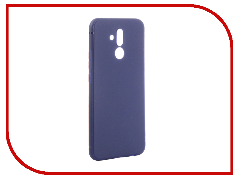 Аксессуар Чехол для Huawei Mate 20 Lite Brosco Softtouch Silicone Blue HW-M20L-TPU-ST-BLUE аксессуар чехол для huawei p smart activ mate blue 84085
