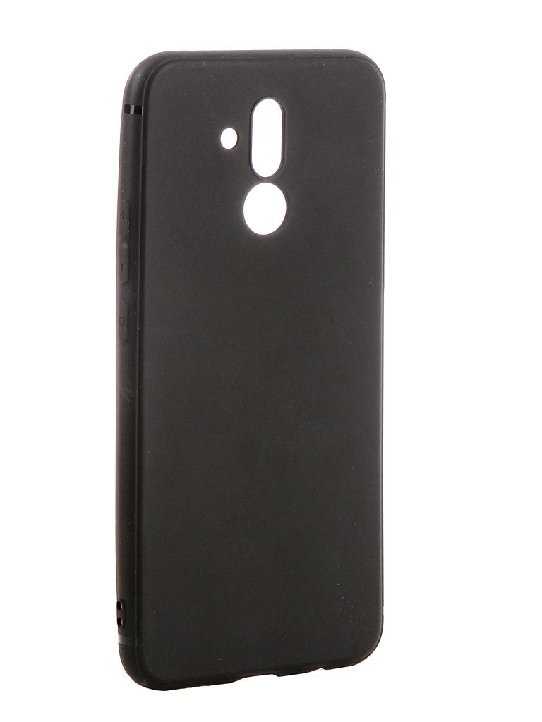 Аксессуар Чехол Brosco для Huawei Mate 20 Lite Softtouch Silicone Black HW-M20L-TPU-ST-BLACK