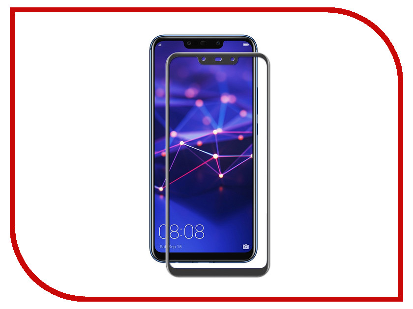 Аксессуар Защитное стекло для Huawei Mate 20 Lite Brosco Black HW-M20L-GLASS-BLACK смартфон huawei mate 20 lite синий
