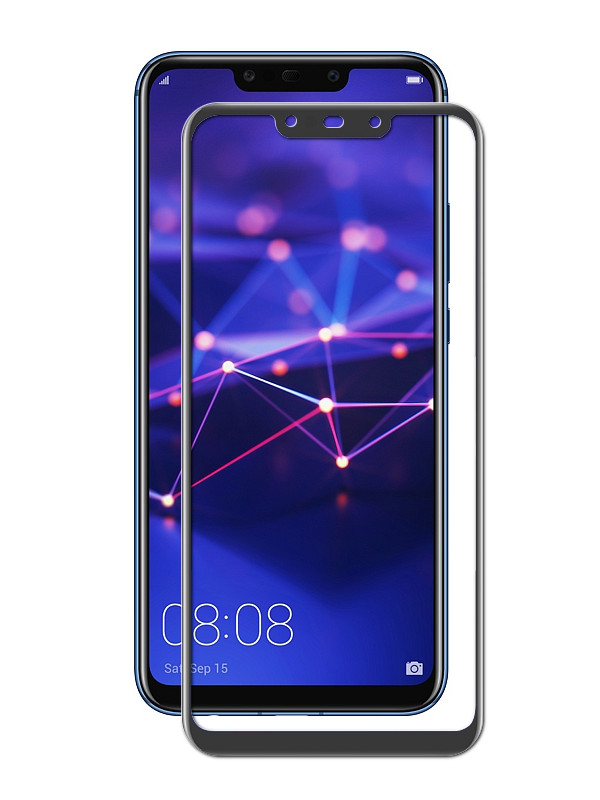 Аксессуар Защитное стекло Brosco для Huawei Mate 20 Lite Black HW-M20L-GLASS-BLACK