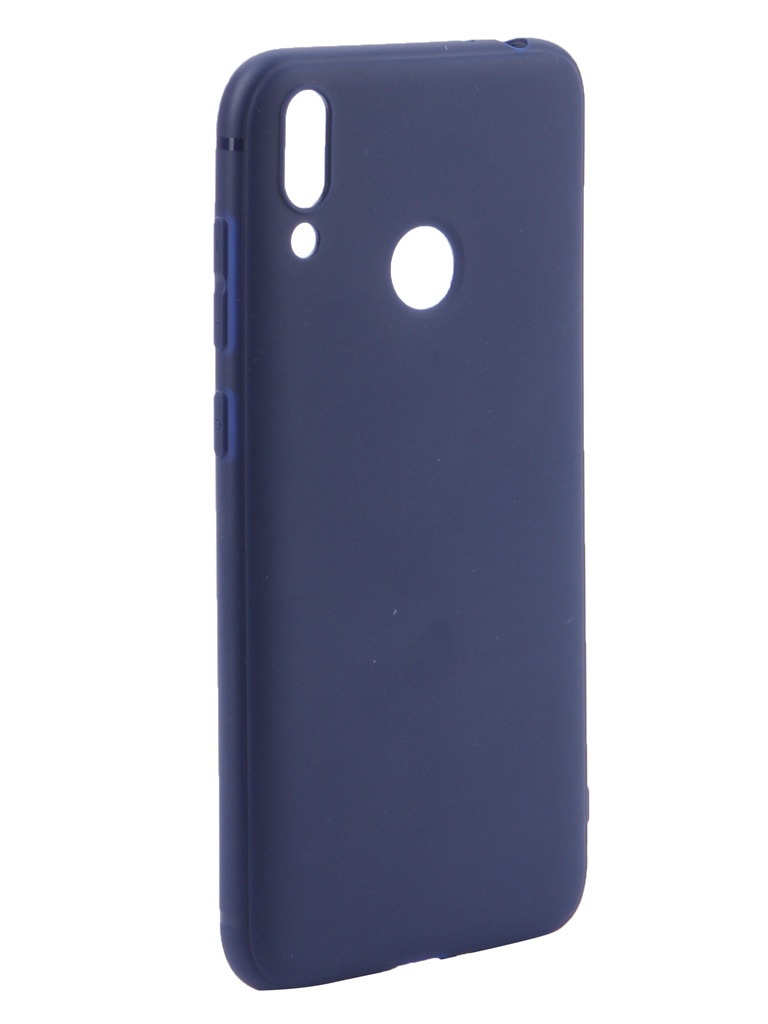 Чехол Brosco для Huawei P Smart 2019 Softtouch Silicone Blue HW-PS(19)-TPU-ST-BLUE