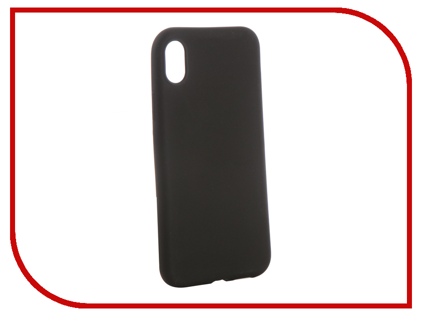 Аксессуар Чехол для APPLE iPhone XR Brosco Softtouch Silicone Black IPXR-TPU-ST-BLACK iphone 5 brosco black ip5 tpu black