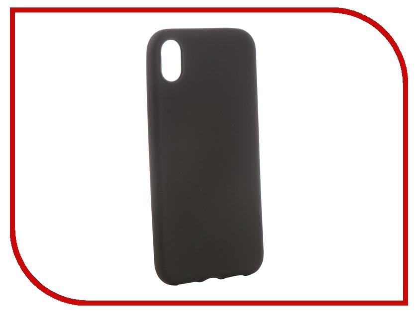 Аксессуар Чехол для APPLE iPhone XR Brosco Black Matte IPXR-COLOURFUL-BLACK аксессуар чехол для micromax q3551 black