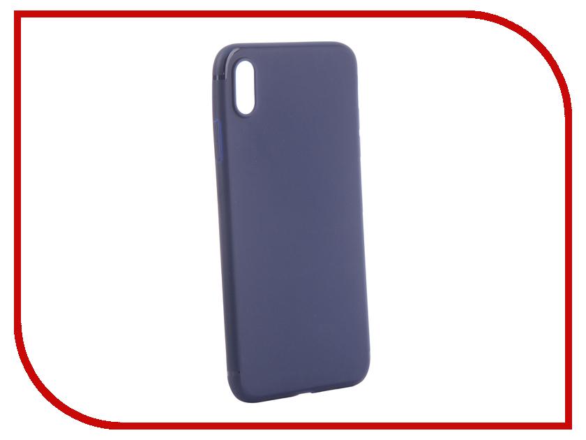 Аксессуар Чехол для APPLE iPhone XS Max Brosco Blue IPXSM-TPU-ST-BLUE gangxun blackview a8 max корпус высокого качества кожа pu флип чехол kickstand anti shock кошелек для blackview a8 max