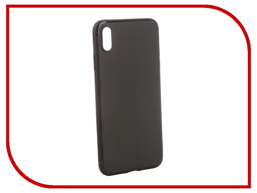 Аксессуар Чехол для APPLE iPhone XS Max Brosco Black IPXSM-TPU-ST-BLACK iphone 5 brosco black ip5 tpu black