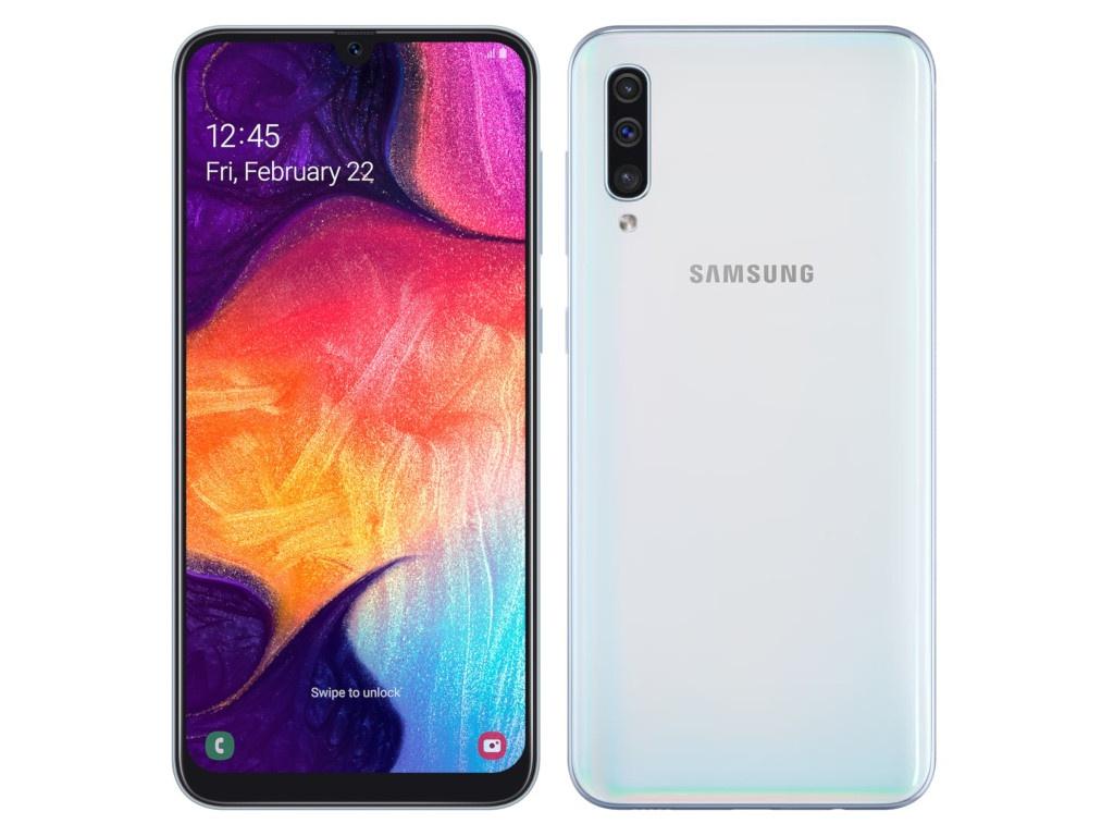 Сотовый телефон Samsung Galaxy A50 64GB White все цены